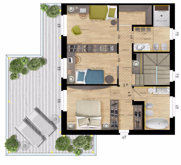 Planimetrie realistiche e render per agenzie immobiliari a for Software per planimetrie